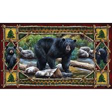 amazon com river u0027s edge bear door mat sports u0026 outdoors