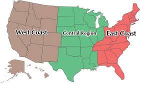 map of usa west coast us map east coast west coast usa map devided thempfa org