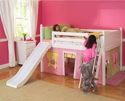 playhouse low loft bed w slide by maxtrix kids pinkyellowgreen  with playhouse low loft bed w slide by maxtrix kids pinkyellowgreen  from sweetretreatkidscom