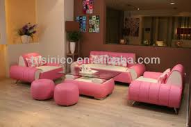Pink Sectional Sofa Morden Contemporary Style Pink Leather Sofa Unique Design