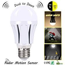 100 Watt Equivalent Led Light Bulbs For Home by Dusk To Dawn Led Motion Sensor Light Bulb 100 Watt Equivalent 9w