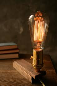 Filament Bulb Desk Lamp His Designs Are Beautifully Rustic Design Type O Graph Y