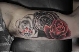 workinprogress sureno tattoo rose timepiece hammersmithtattoo