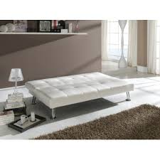 canapé simili cuir blanc canapé convertible 3 places en simili cuir blanc barca