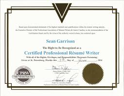 certification in resume writing resumes by sean picture