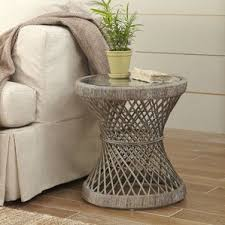 Wicker Accent Table Rattan Accent Table Wayfair