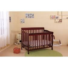 Crib Mattress Base Cherry Wood Convertible Baby Crib Toddler Bed With