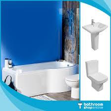 Modern Trim by P Shaped Bathroom Suite 1700mm Bath Modern Trim Basin U0026 Btw Toilet