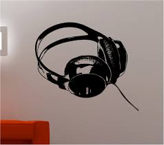 dj headphones music kids wall art sticker decal bedroom ebay
