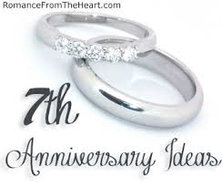 seventh anniversary gifts 7th anniversary ideas romancefromtheheart