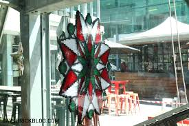 visiting the lego christmas tree at federation square melbourne