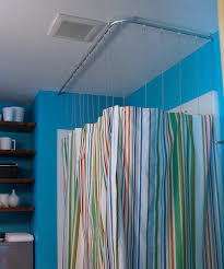 Shower Curtain Tracks Amazing Interior Shower Curtain Track System With Mandrinhomes