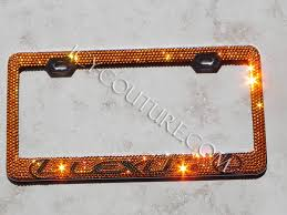 lexus plate frame lexus swarovski license plate frame whats your colors