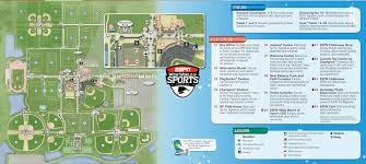 Map Of Walt Disney World by Espn Wide World Of Sports Map Kennythepirate Com An Unofficial