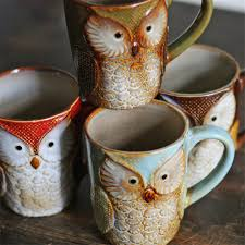 owl mug owl mugs creative coffee milk tea cups ceramic cup breakfast