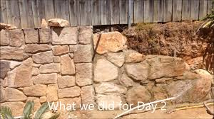 How To Build A Stone by How To Build A Stone Retaining Wall Pt 1 Youtube