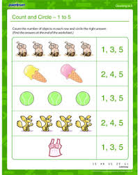 Count By 5 Worksheets Printable Free Count And Circle 1 To 5 Free Counting Worksheet Jumpstart