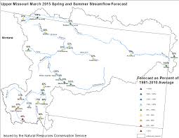 Montana River Map by Water Supply Statement For The Missouri River Basin Issued For