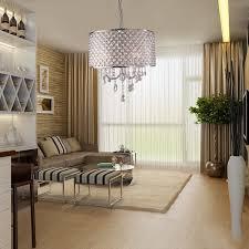 ceiling living room lights lightinthebox drum chandelier crystal modern 4 lights modern home