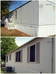 mobile homes for less mobile home exterior facelift this site has great before and
