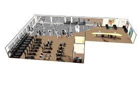 fitness center floor plan fitness center design