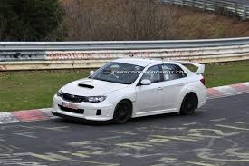 subaru sedan white spied 2011 subaru impreza wrx sti spec c sedan scooped at the u0027ring