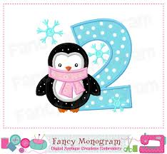 penguin number 2 applique2birthday number 2 appliquenumber