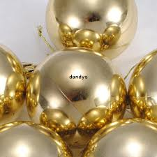 Christmas Ornaments On Sale Free Shipping 10cm Christmas Tree Baubles Hanging Shiny Golden Balls Ornaments