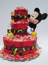 mickey mouse baby diaper cake shower gift newborn present flickr