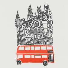 travel art images London cityscape fox and velvet jpg