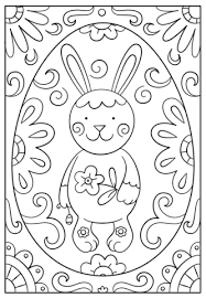 easter bunny doodle coloring free printable coloring pages