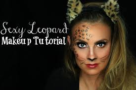 half face halloween makeup ideas leopard cat halloween makeup tutorial angela lanter youtube