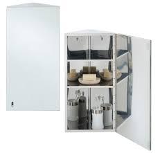 Corner Mirror Cabinet For Bathroom by Rak Riva Stainless Steel 190 X 660mm Corner Single Door Mirror Cabinet