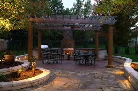 Patios Kansas City Landscape Design Pictures Backyard Kitchen Spa Pergola And