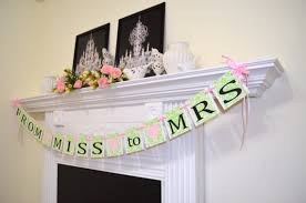 bridal decorations from miss to mrs banner mint bridal shower banner to be