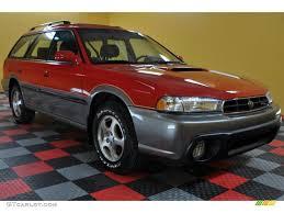 subaru station wagon interior 1998 rio red subaru legacy outback limited wagon 40410558