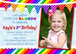 the rainbow birthday photo card invitation printable