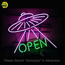neon bar lights for sale ufo open neon signs handcrafted neon bulbs glass tube decorate