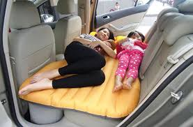 inflatable mattress that turns your car u0027s back seat into a bed