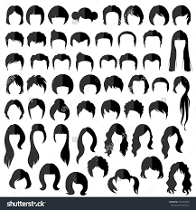woman man hair vector hairstyle silhouette 253353475 larastock
