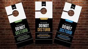 don u0027t disturb door hanger template flyer templates creative market