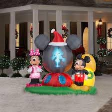 christmas inflatables outdoor mickey outdoor christmas decorations christmas2017