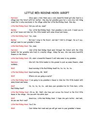 red riding hood script