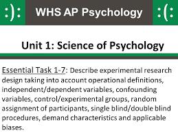 Define Single Blind Experiment Unit 1 Science Of Psychology Ppt Video Online Download
