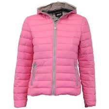 la s padded jacket womens coat quilted down hooded funnel neck