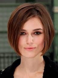 hairstyles that are angled towards the face short smooth bob gee your hair looks different pinterest