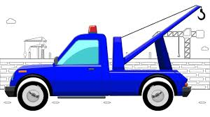 tow truck coloring book street vehicle educational video