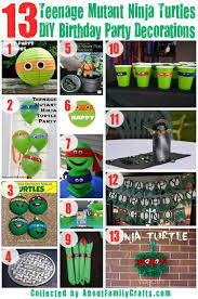 75 diy mutant turtles birthday ideas about