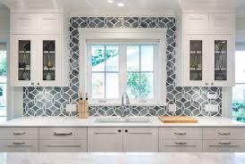 White And Blue Kitchen - white kitchen with blue gray backsplash tile home bunch interior