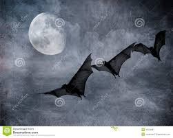 a halloween bat with a dark background bats in the dark cloudy sky halloween background royalty free